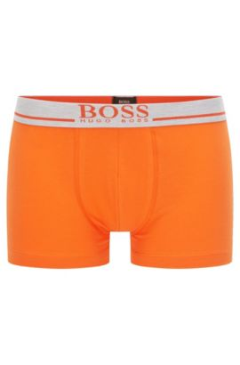 'Trunk 24 Logo' | Stretch Cotton Solid Trunks, Orange