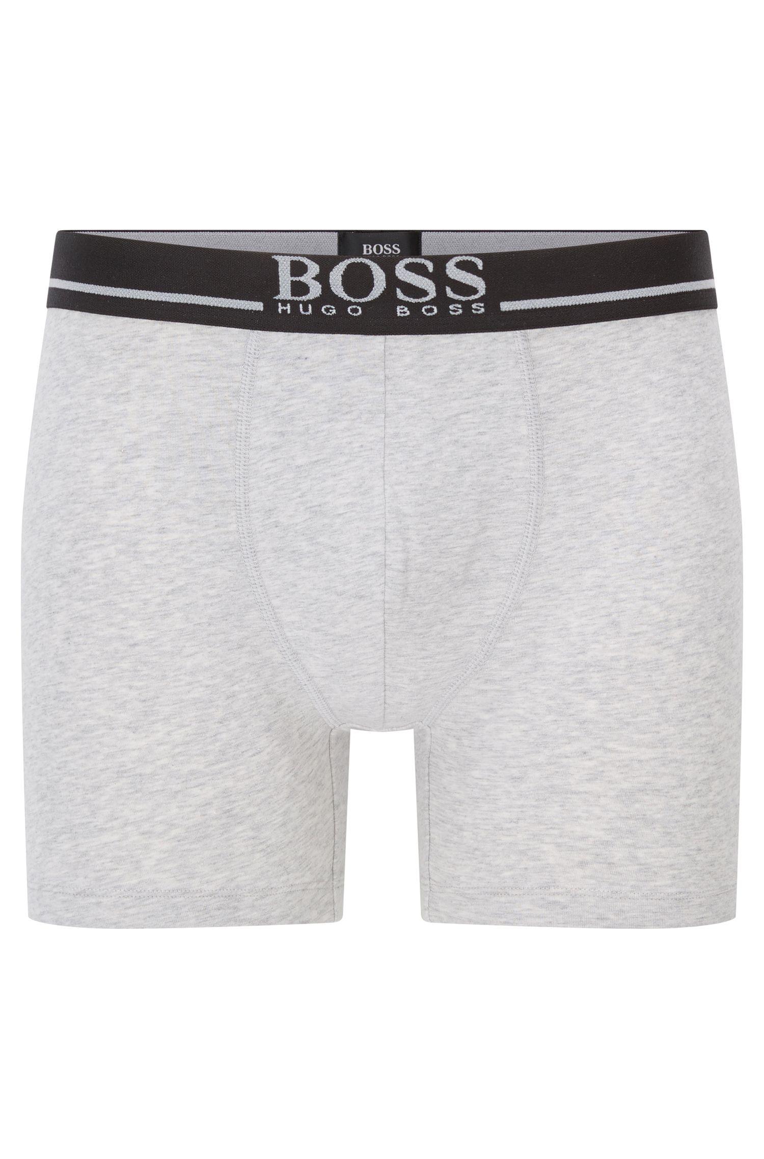 Stretch Cotton Boxer Brief | Boxer Brief 24 Logo, Grey