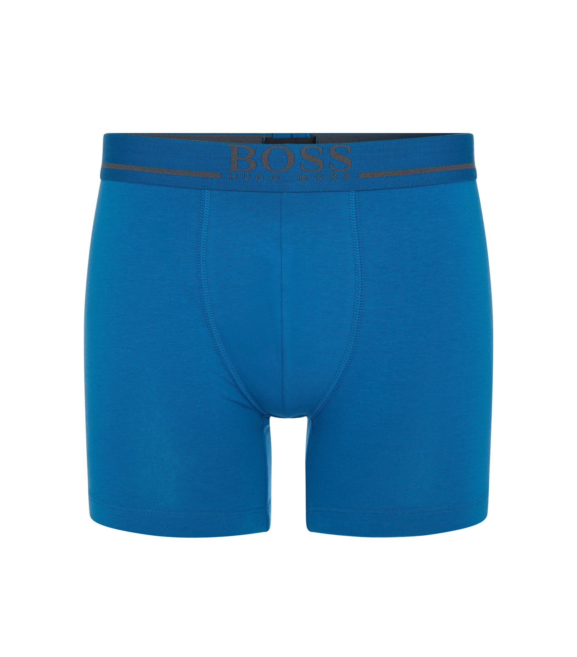Stretch Cotton Boxer Brief | Boxer Brief 24 Logo, Blue
