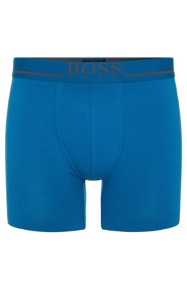 'Boxer Brief 24 Logo' | Stretch Cotton Boxer Brief, Blue