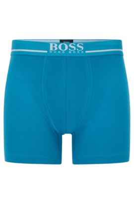 Stretch Cotton Boxer Brief | Boxer Brief 24 Logo, Turquoise