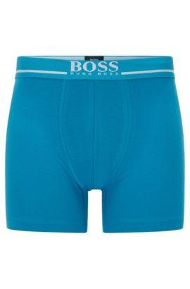 'Boxer Brief 24 Logo' | Stretch Cotton Boxer Brief, Turquoise
