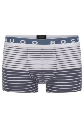 'Trunk Stripe' | Stretch Cotton Boxer Briefs, Open Grey