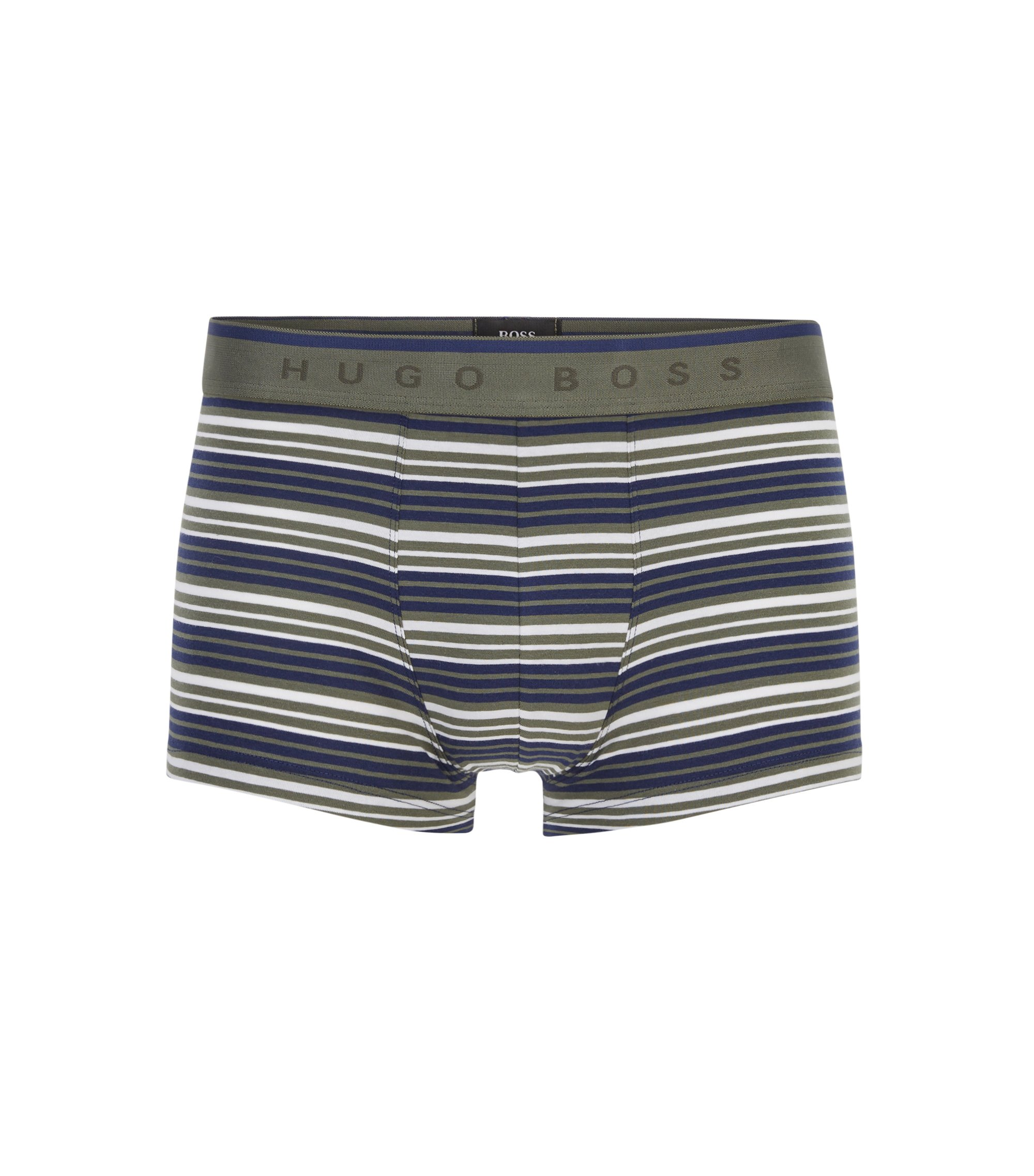 Regular-rise boxer briefs in stretch cotton jersey, Open Green