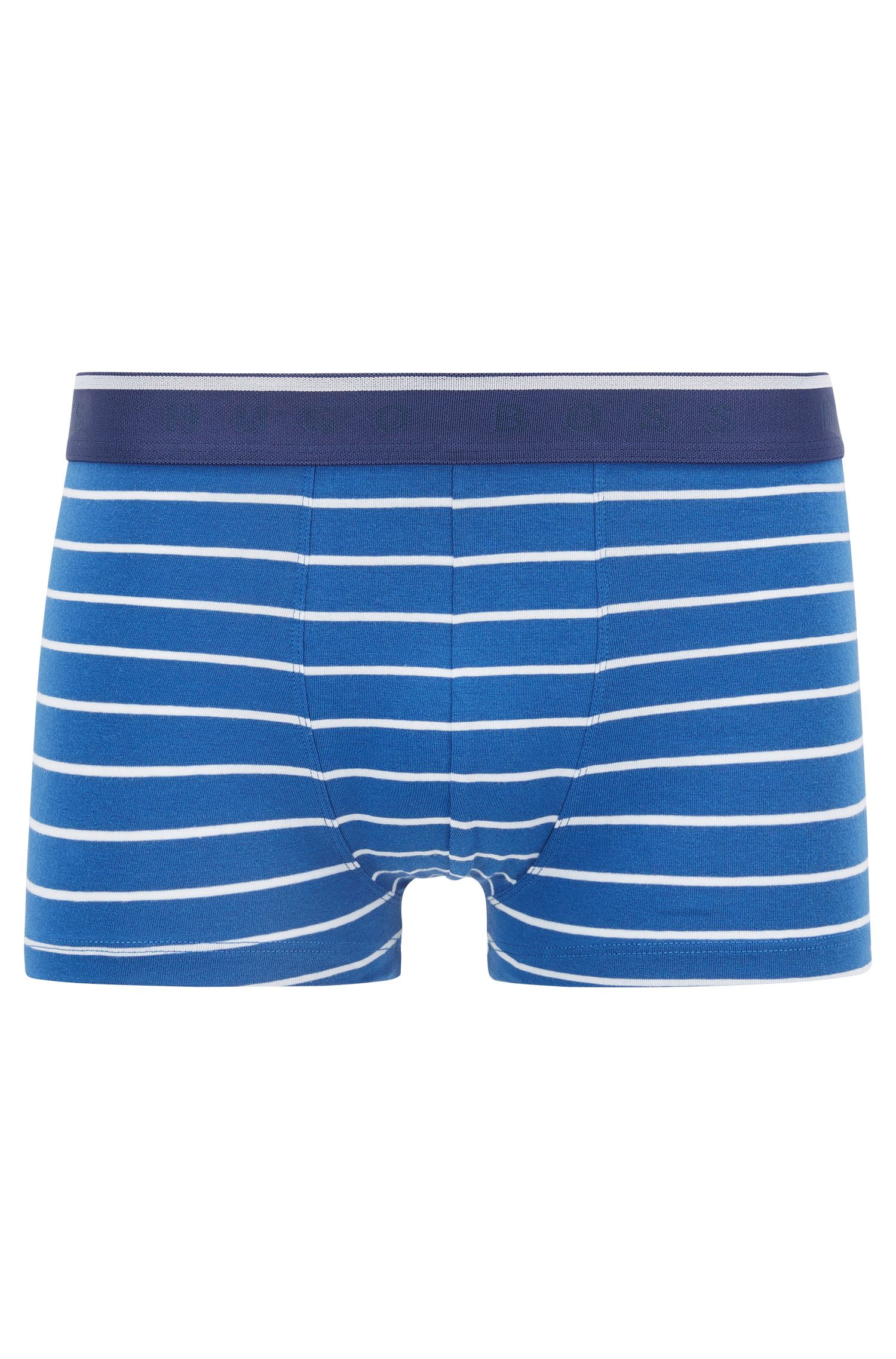 Regular-rise boxer briefs in stretch cotton jersey, Open Blue