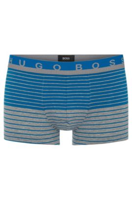 'Trunk Stripe' | Stretch Cotton Boxer Briefs, Open Blue