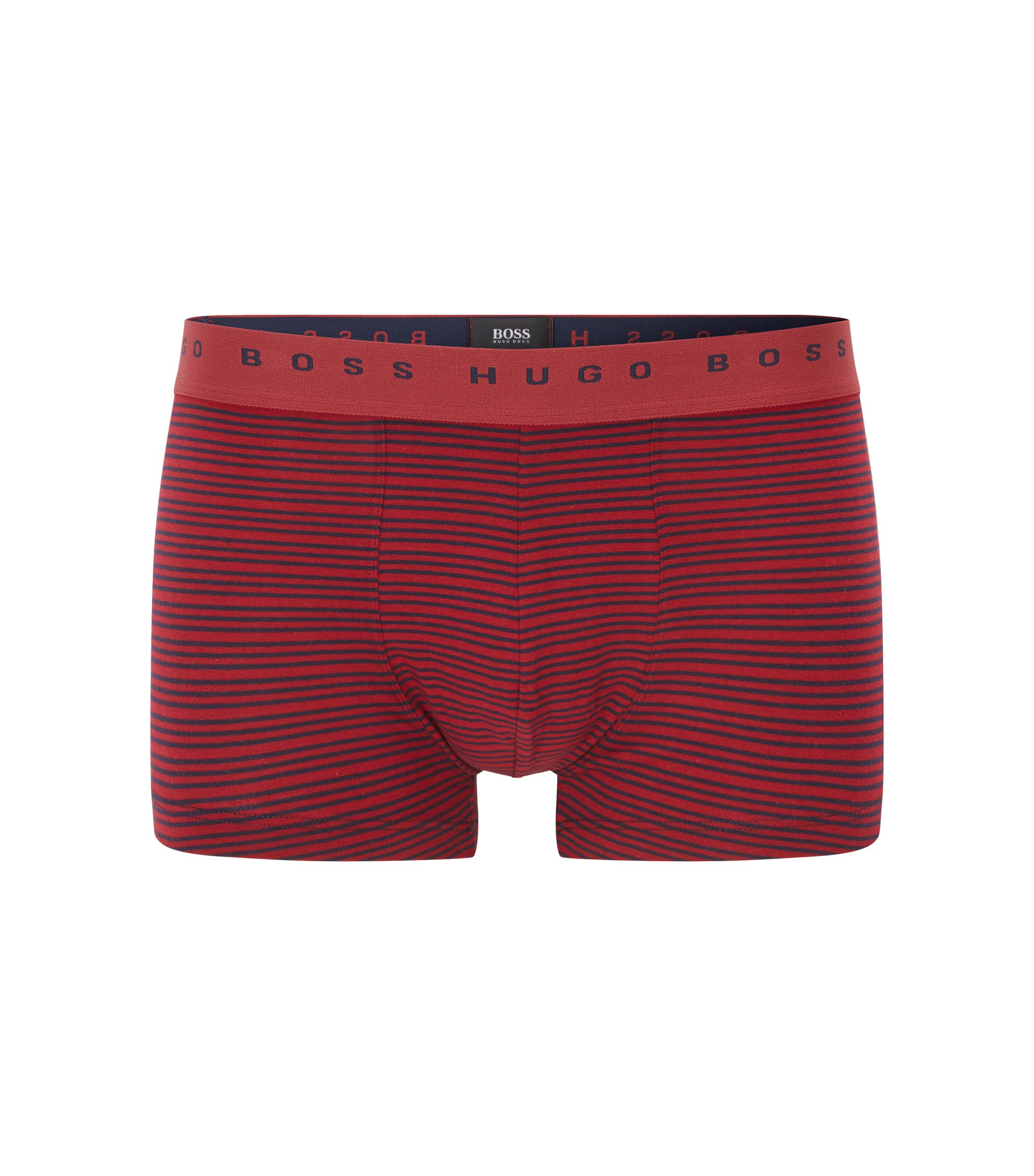 Stretch Cotton Trunk | Trunk Stripe, Open Red