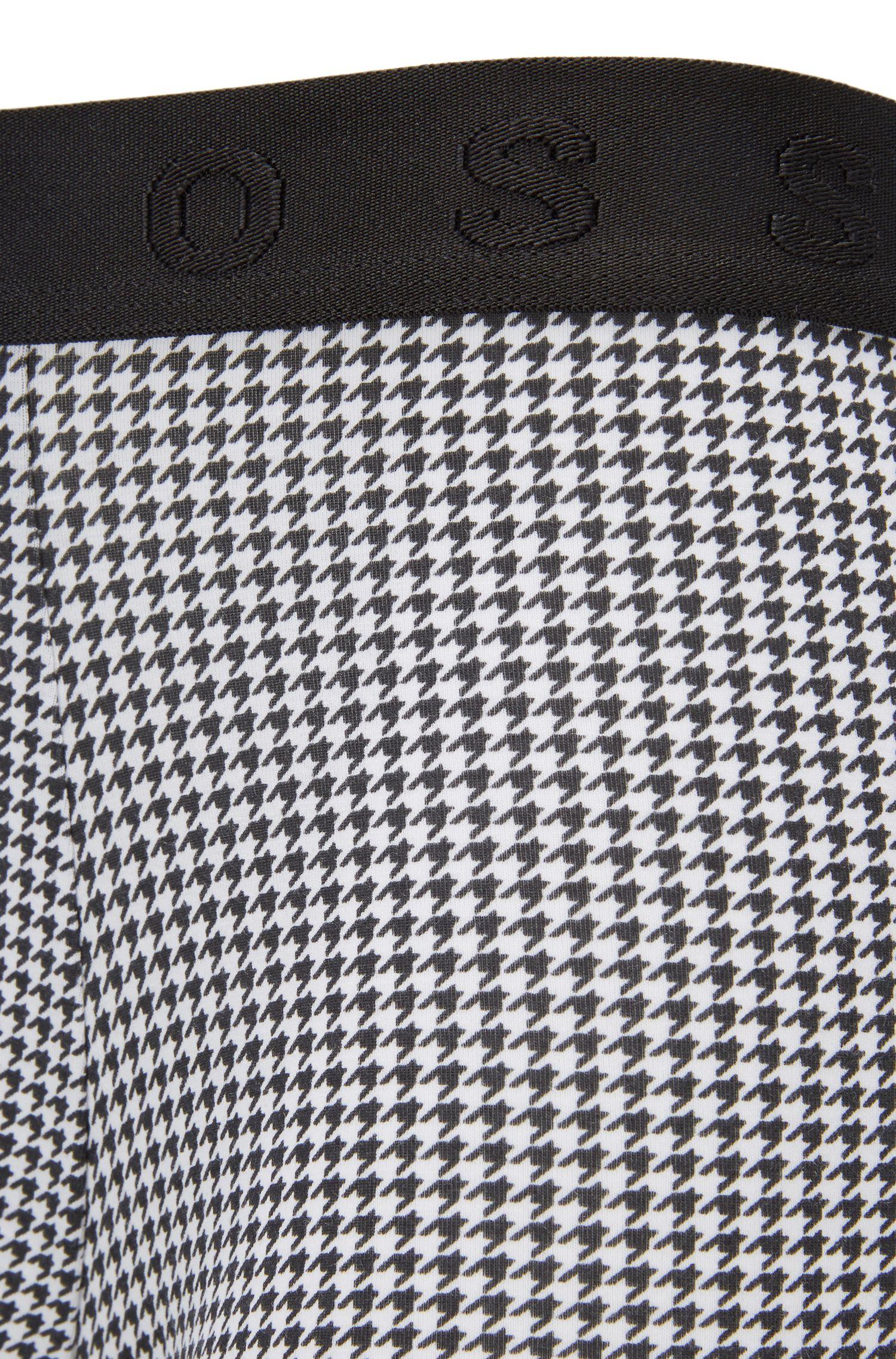 Stretch Cotton Modal Trunk | Trunk Microprint, Black