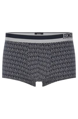 'Trunk Microprint' | Stretch Cotton Modal Trunks, Dark Blue