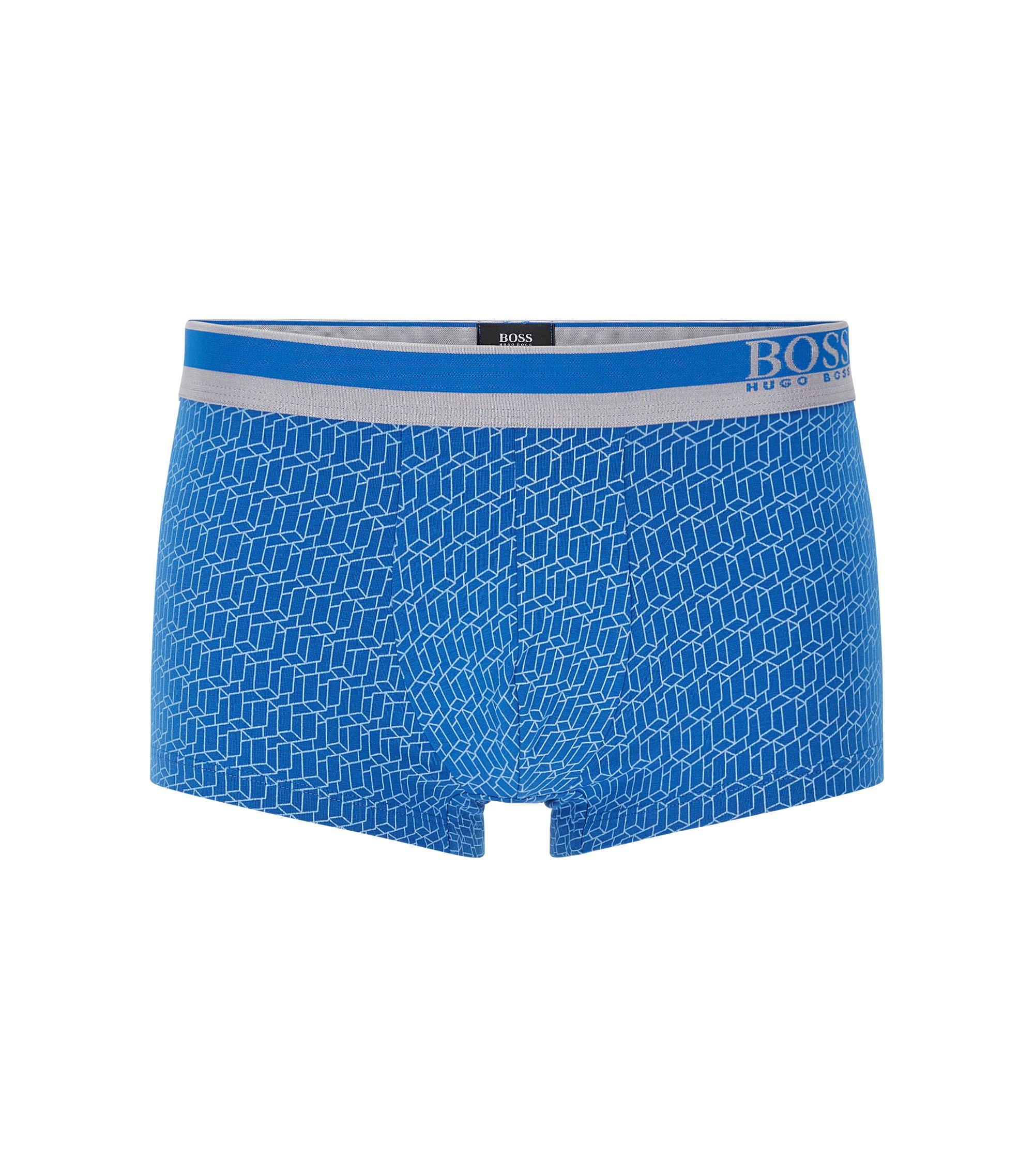 Stretch Cotton Modal Trunk | Trunk Microprint, Blue
