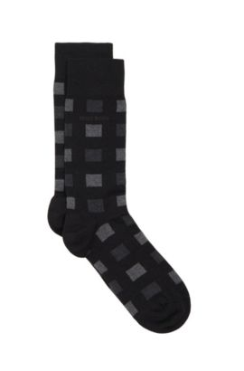 'RS Design US' | Stretch Cotton Wool Blend Socks, Black