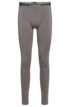 'Long John Thermal' | Stretch Viscose Blend Thermal Leggings, Dark Grey