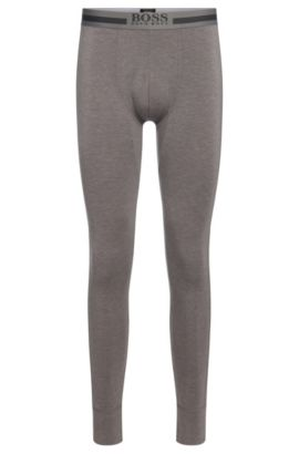 'Long John Thermal' | Stretch Viscose Blend Thermal Leggings, Dark Grey