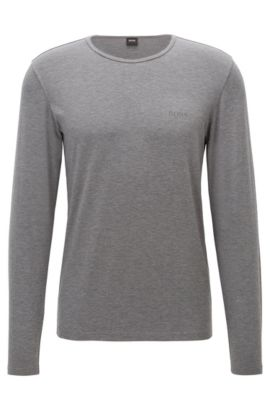 'LS Shirt RN Thermal' | Stretch Viscose Thermal Long Sleeve T-Shirt, Charcoal
