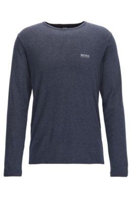 Stretch Thermal Long Sleeve T-Shirt | LS Shirt RN Thermal, Dark Blue