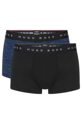 'Boxer 2P FN Print' | Stretch Cotton Trunk, 2-Pack, Open Blue