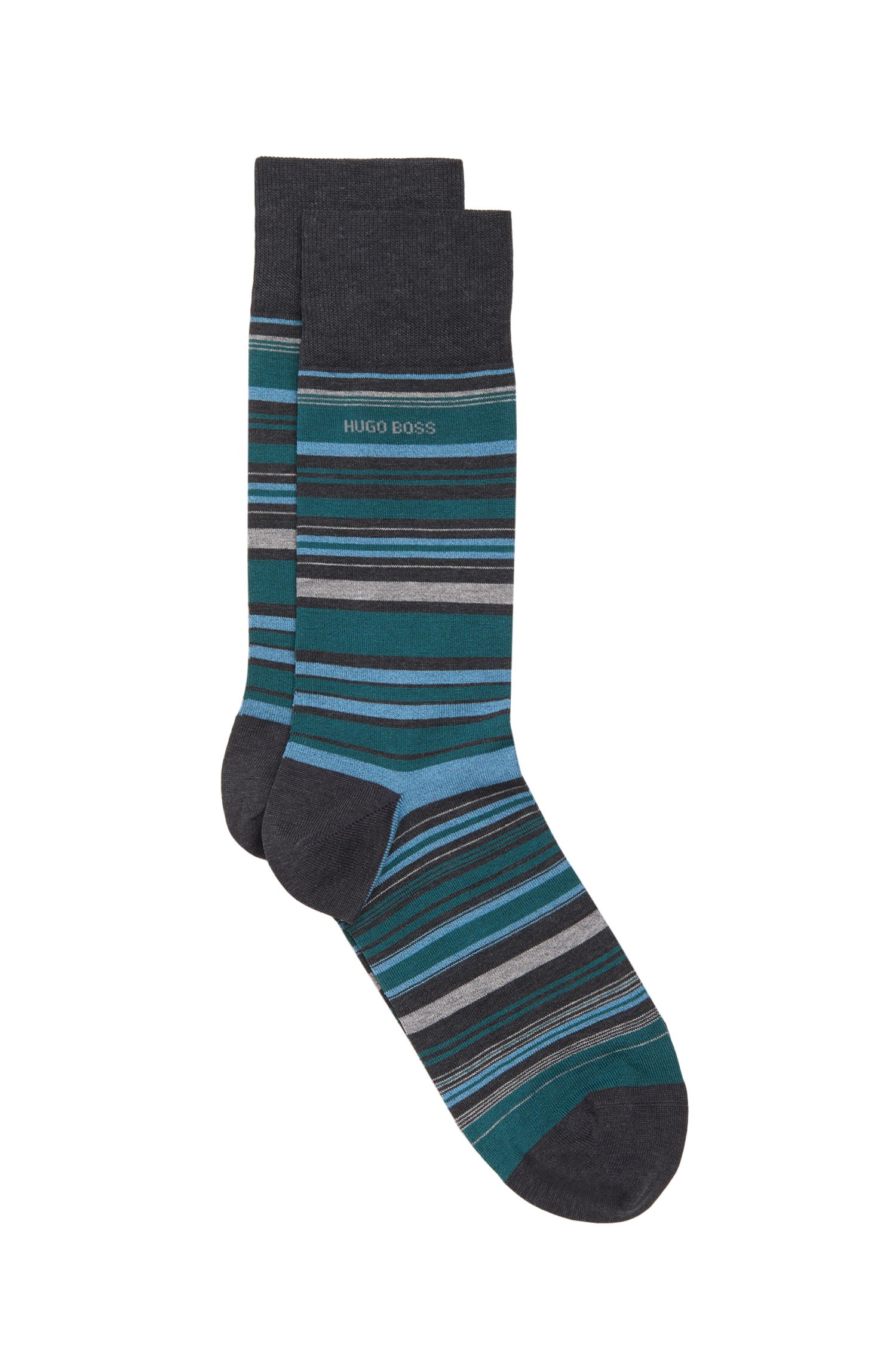 Stretch Cotton Blend Sock | 'RS Design US, Charcoal