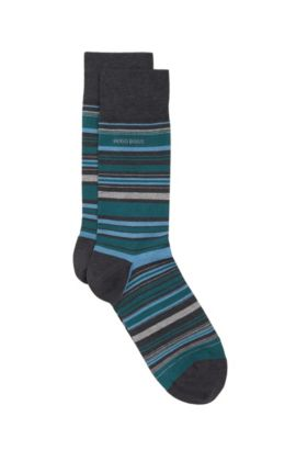 'RS Design US' | Stretch Cotton Blend Socks, Charcoal