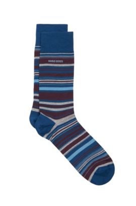 Stretch Cotton Blend Sock | 'RS Design US, Dark Blue