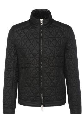 Nylon Padded Quilted Jacket   Obray, Black