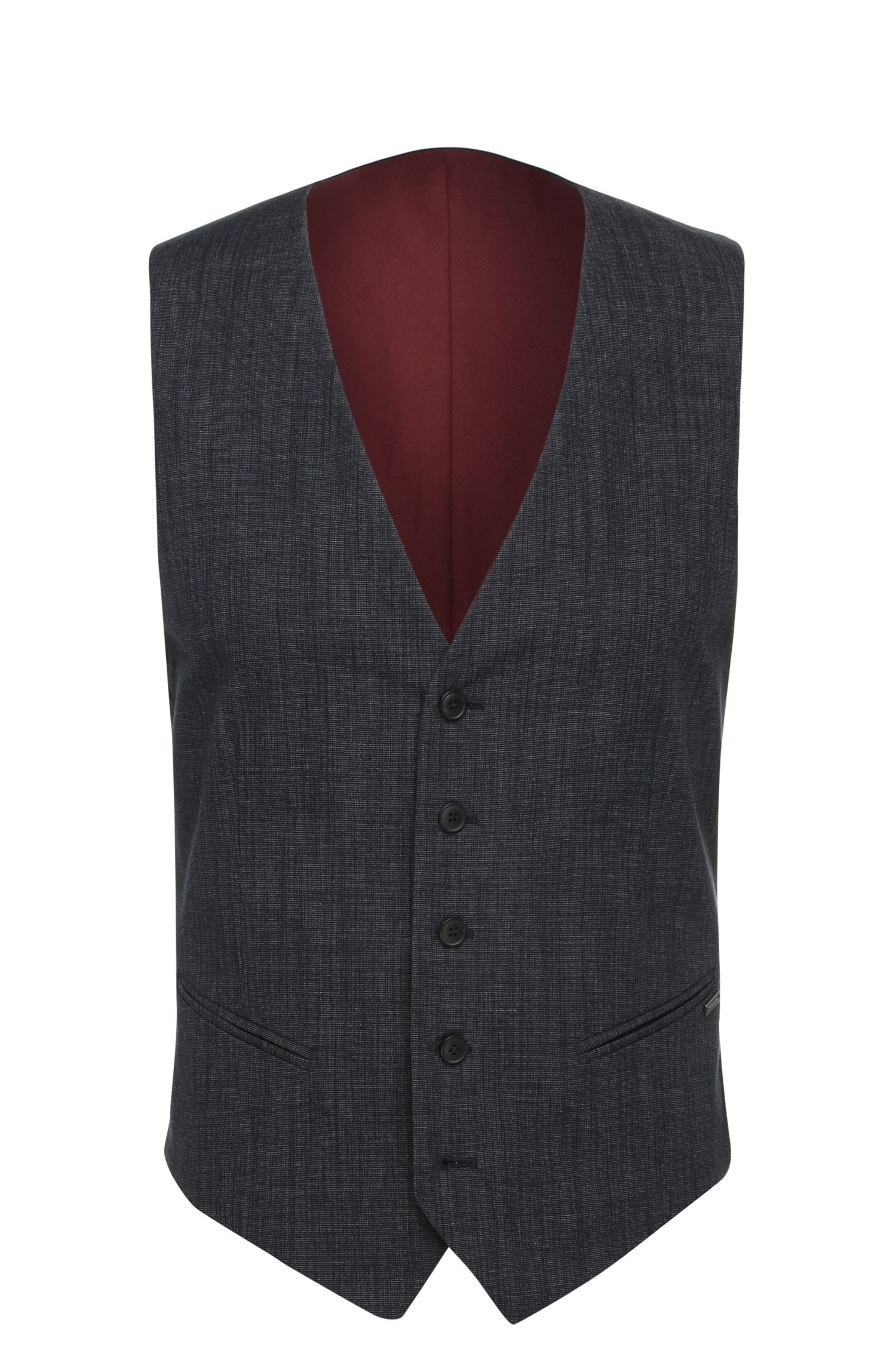 'Bacer BS' | Slim Fit, Stretch Cotton Blend Melange Vest