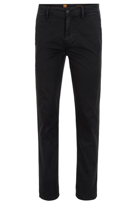 Best Prices Free Shipping 2018 Tapered-fit trousers in soft-washed stretch cotton BOSS Outlet Purchase Buy Cheap From China sUr3Demro