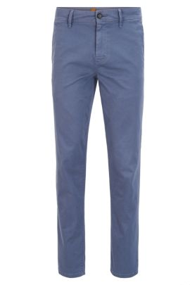 Stretch Cotton Chino Pants, Tapered Fit | Schino Tapered D, Dark Blue