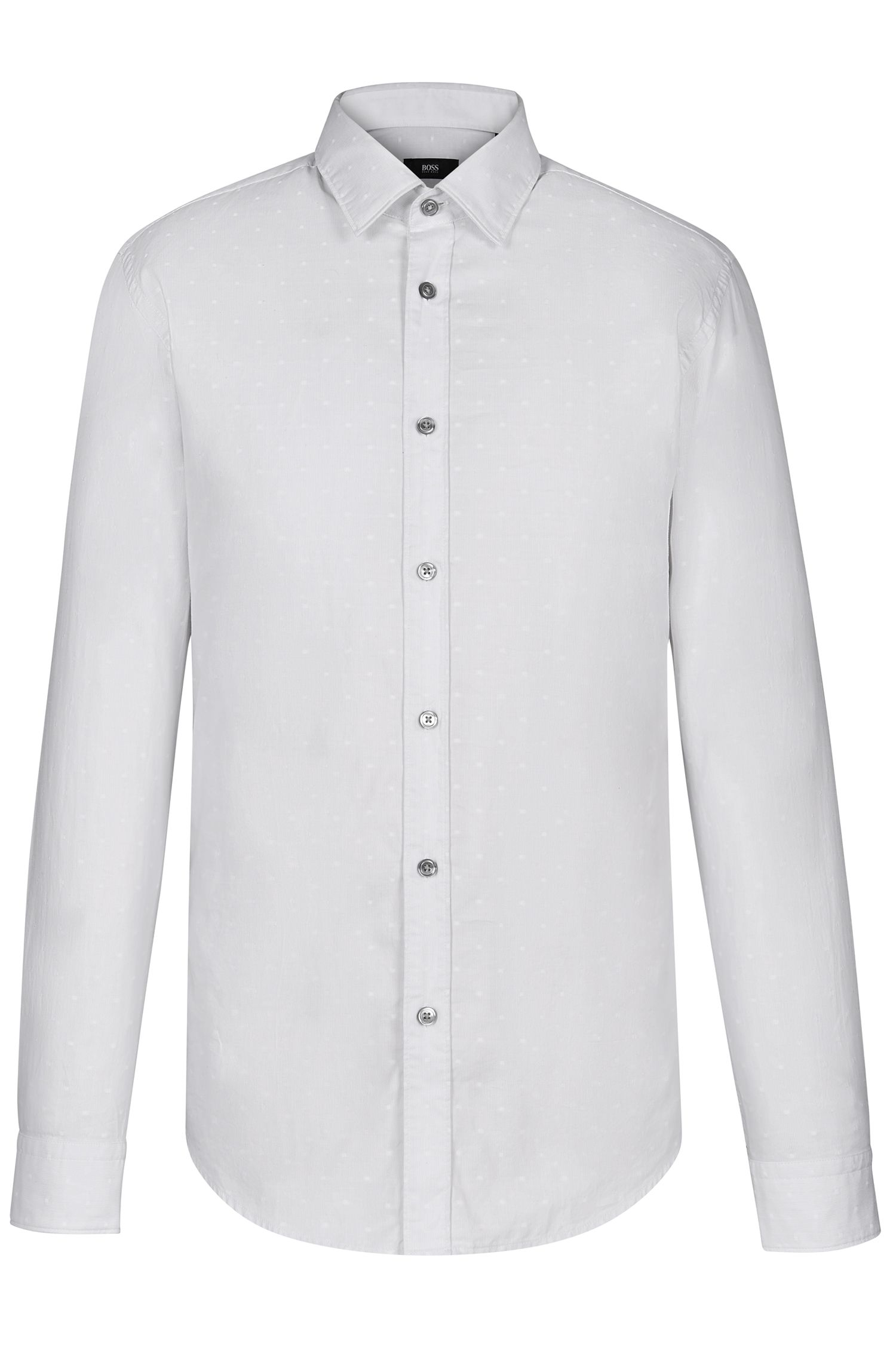 Embroidered Cotton Button Down Shirt, Regular Fit | Lukas