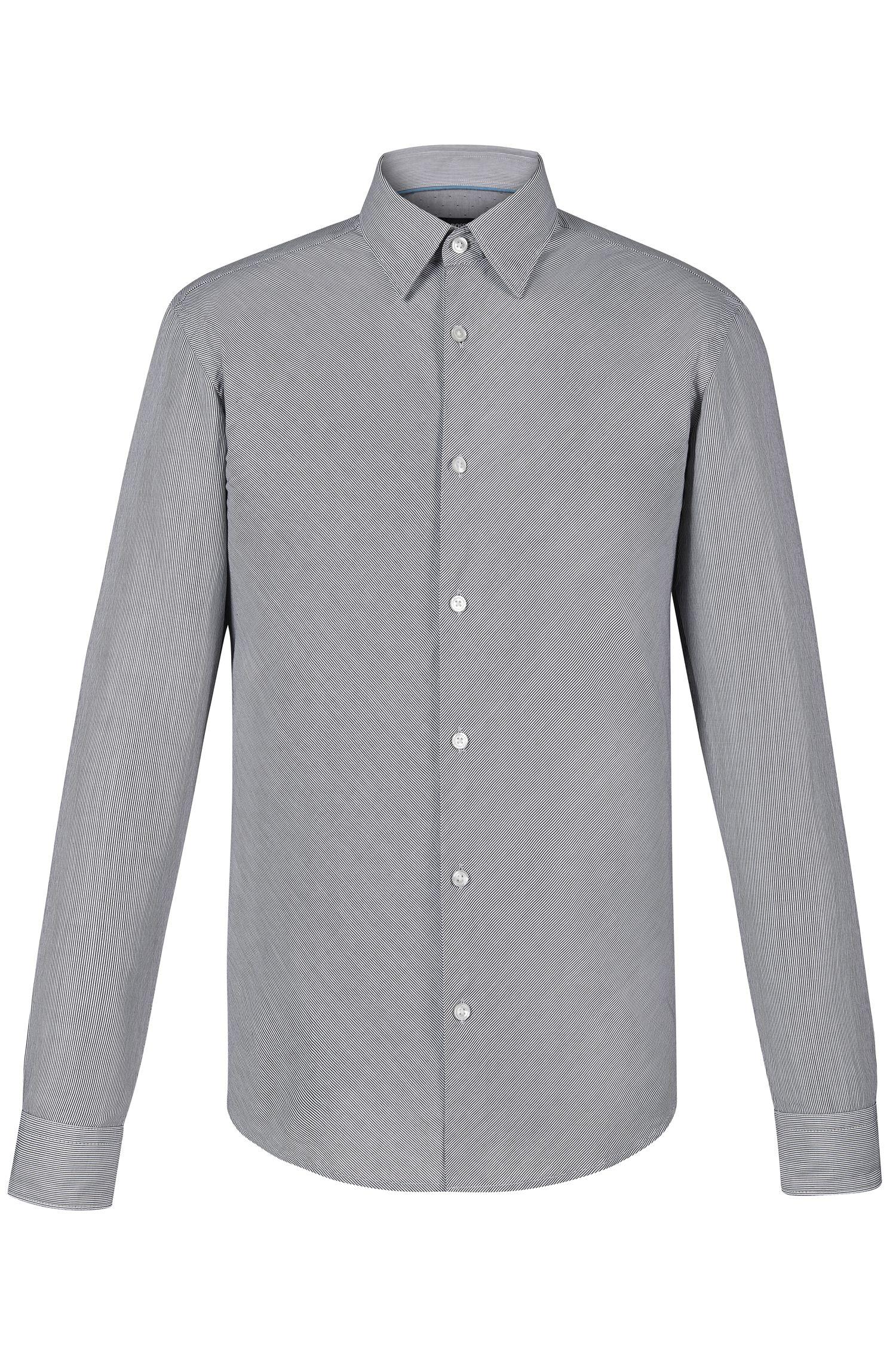 Striped Cotton Button Down Shirt, Slim Fit | Rodney