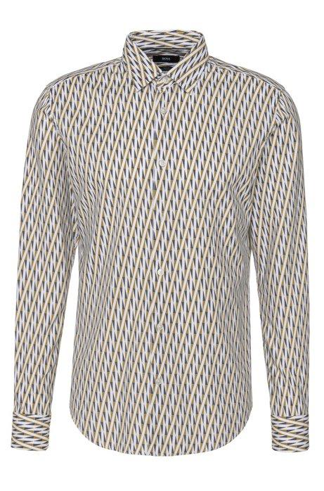 fb1e524a5 BOSS - 'Ronni F' | Slim Fit, Italian Cotton Patterned Button Down Shirt