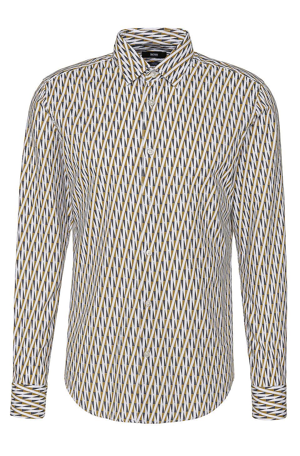 571356fa2 BOSS - 'Ronni F' | Slim Fit, Italian Cotton Patterned Button Down Shirt