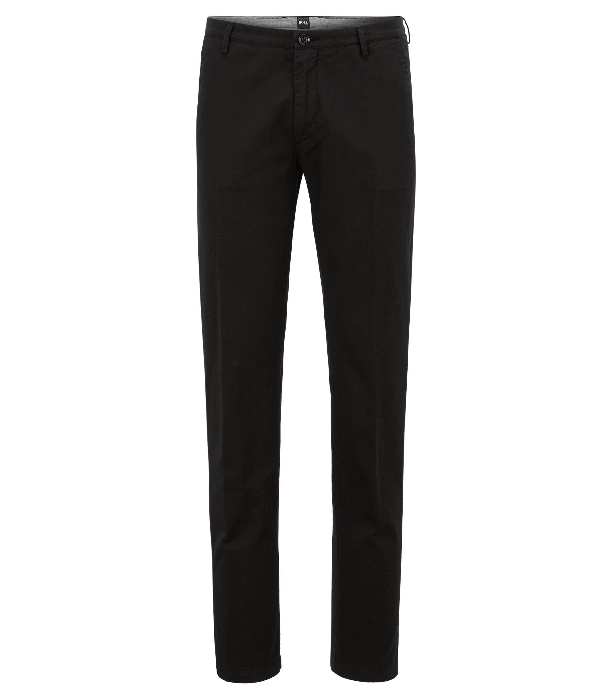 Cotton Stretch Chino Pant, Slim Fit | Rice D, Black