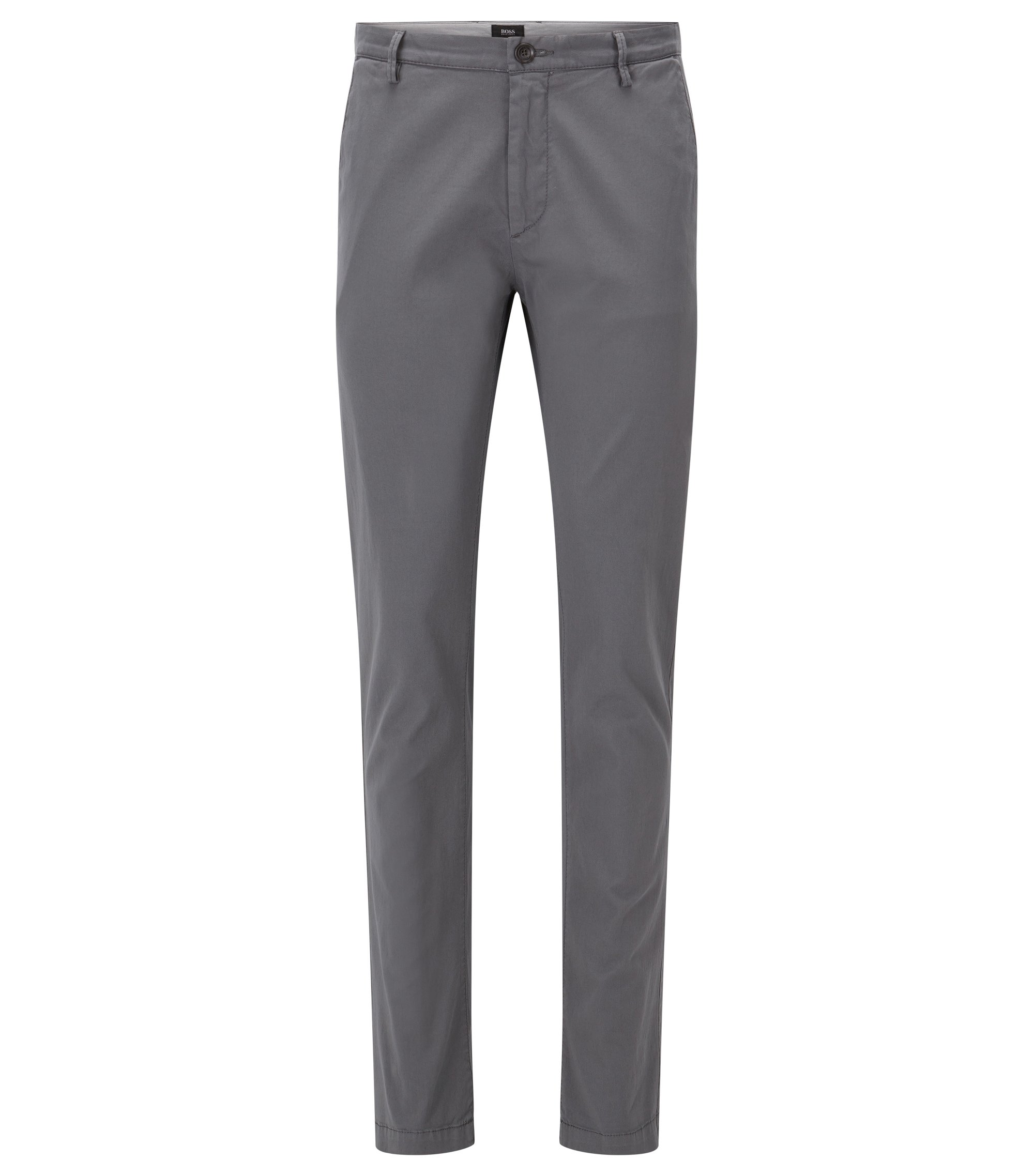 Cotton Stretch Chino Pant, Slim Fit | Rice D, Open Grey