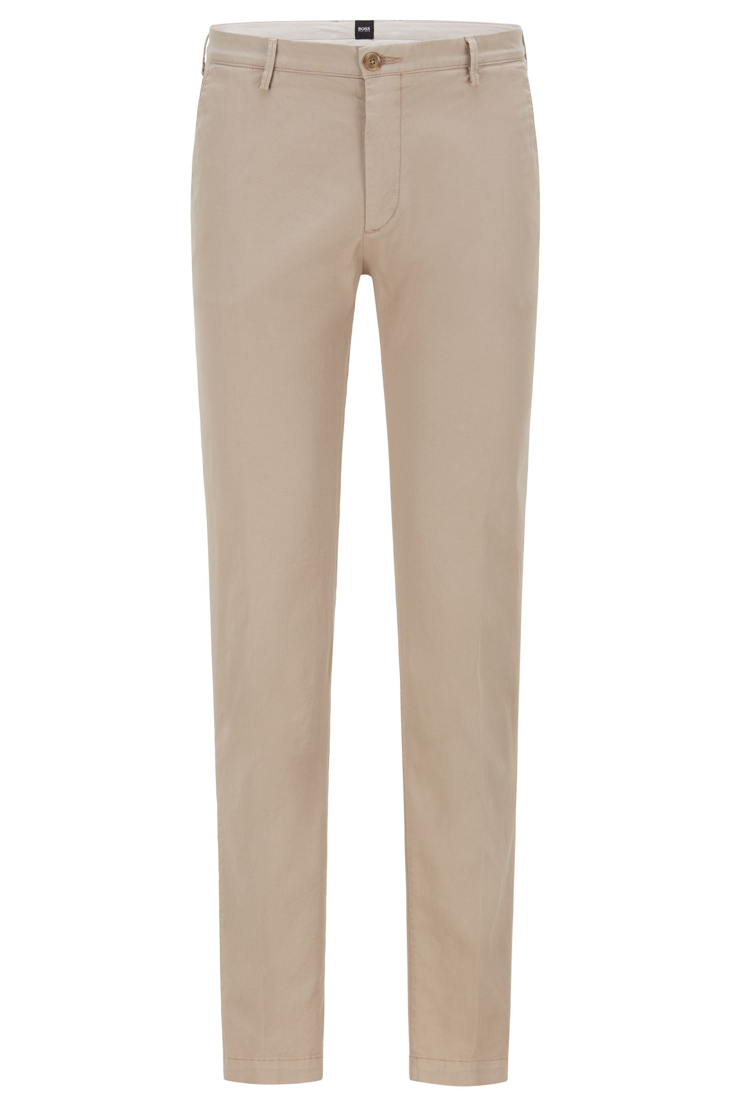 Cotton Stretch Chino Pant, Slim Fit | Rice D, Open Beige