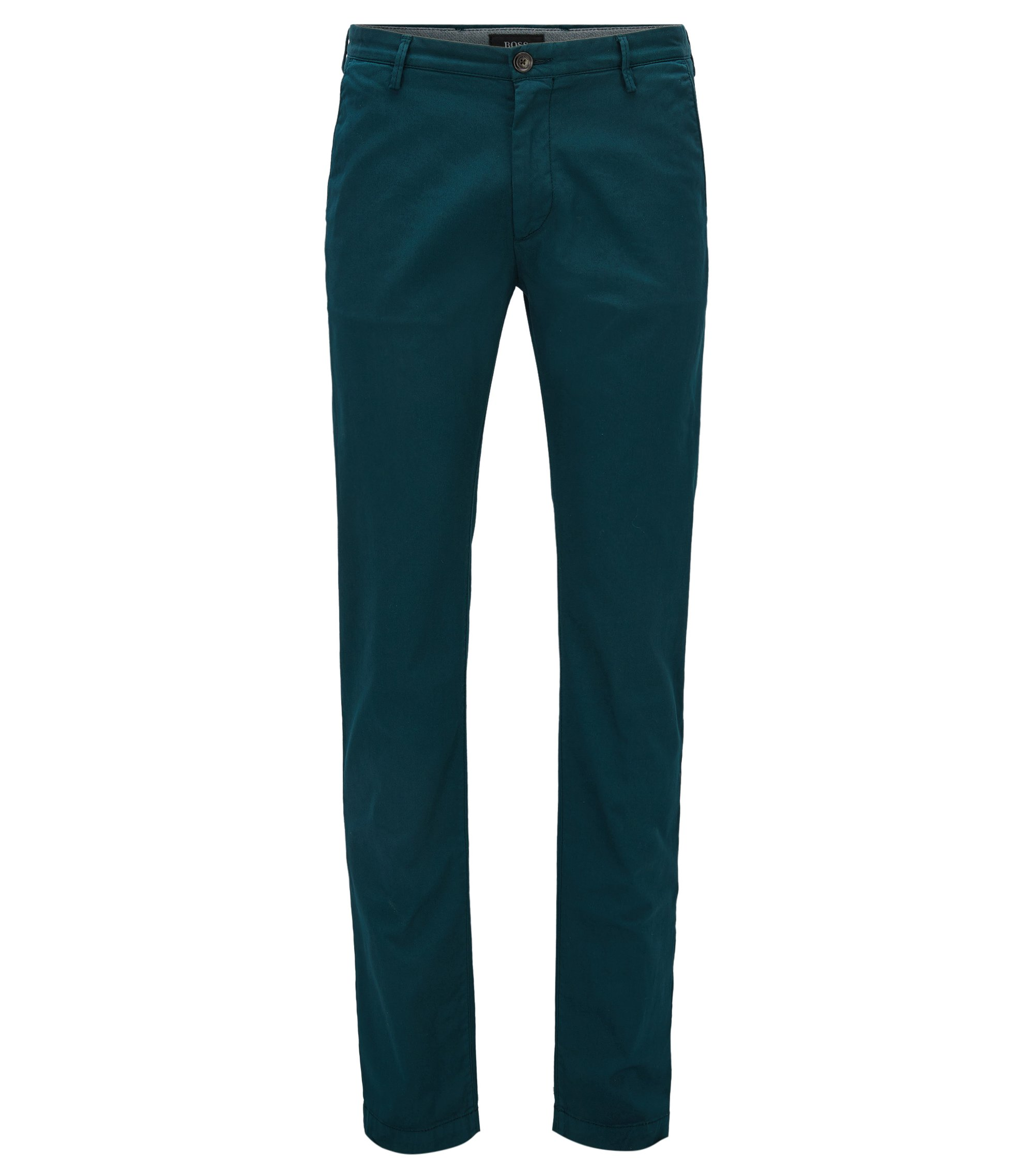 Cotton Stretch Chino Pant, Slim Fit | Rice D, Open Green