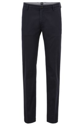 'Rice D' | Slim Fit, Cotton Stretch Chino Pants, Dark Blue