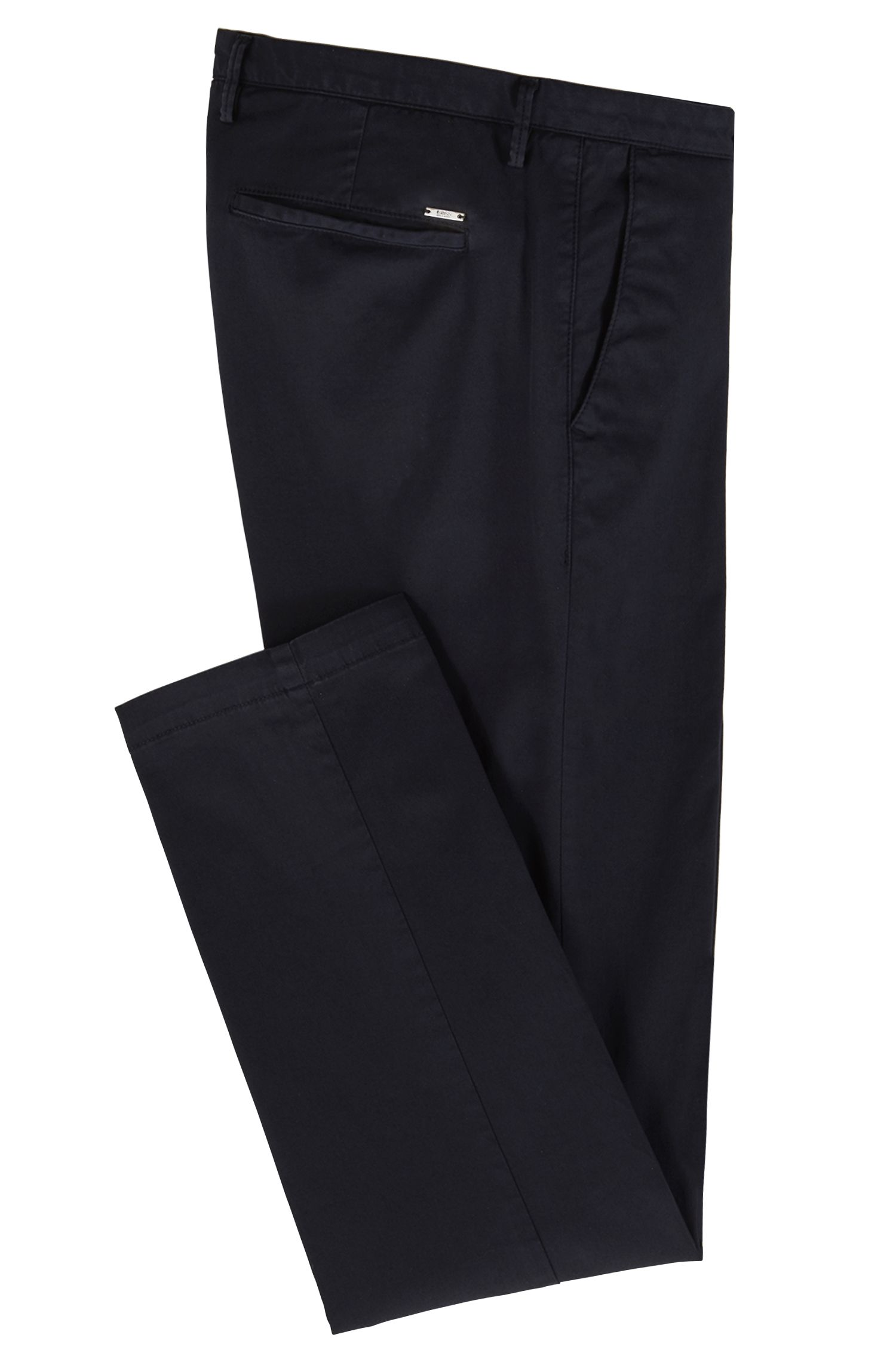 Cotton Stretch Chino Pant, Slim Fit | Rice D, Dark Blue