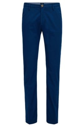 Cotton Stretch Chino Pant, Slim Fit | Rice D, Blue