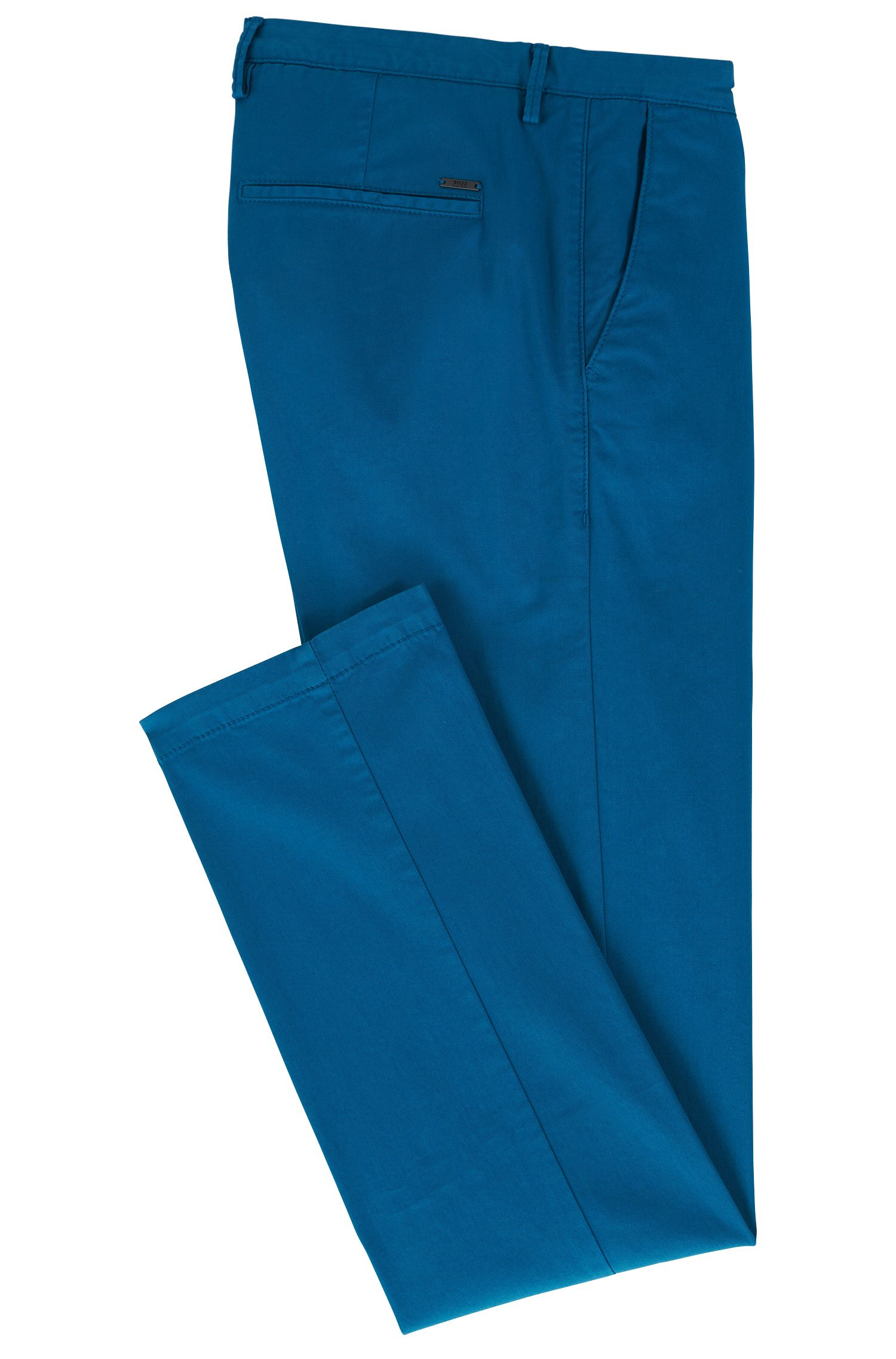 Cotton Stretch Chino Pant, Slim Fit | Rice D, Turquoise