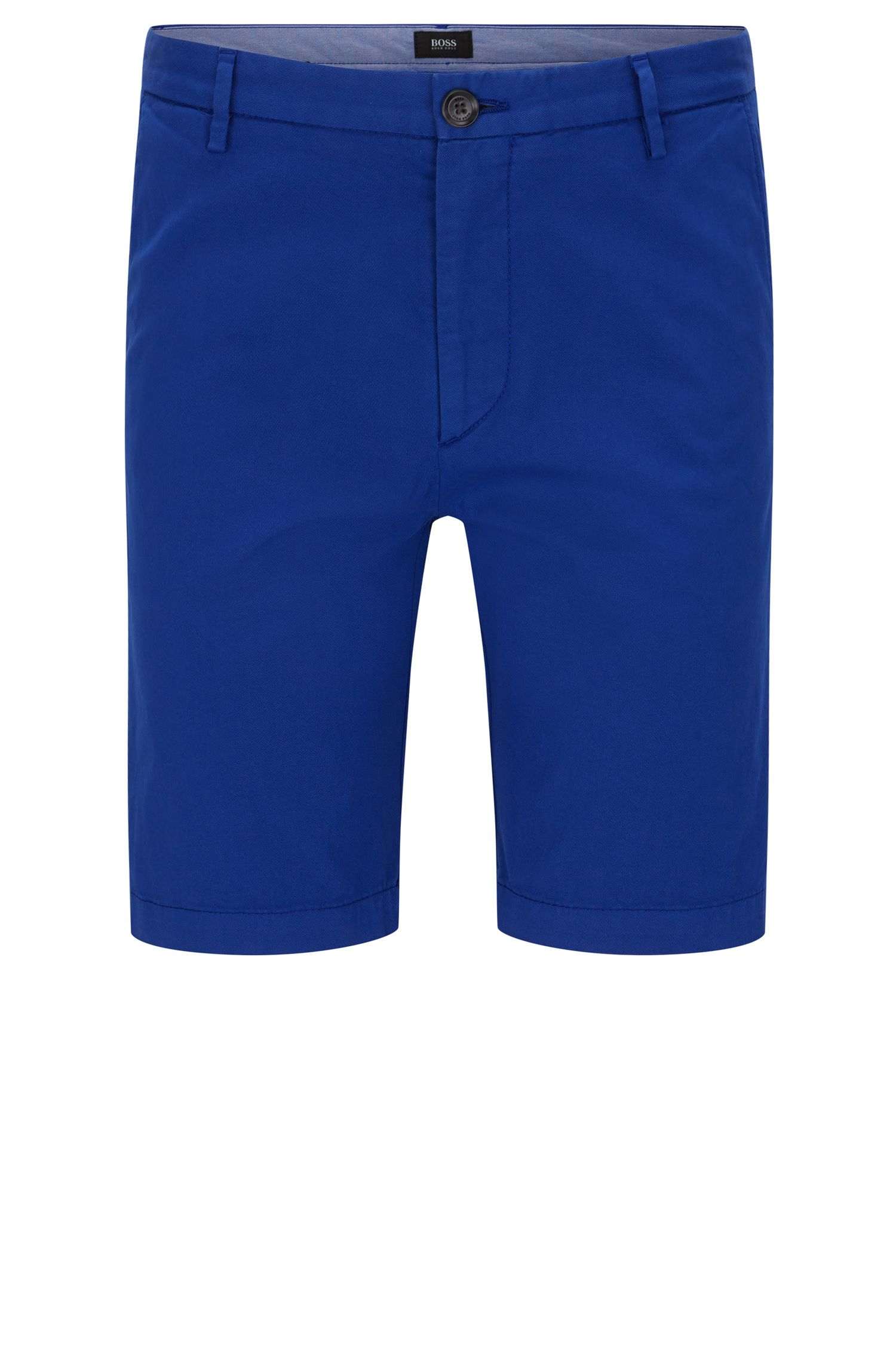 'Rice Short D' | Slim Fit, Stretch Cotton Chino Shorts