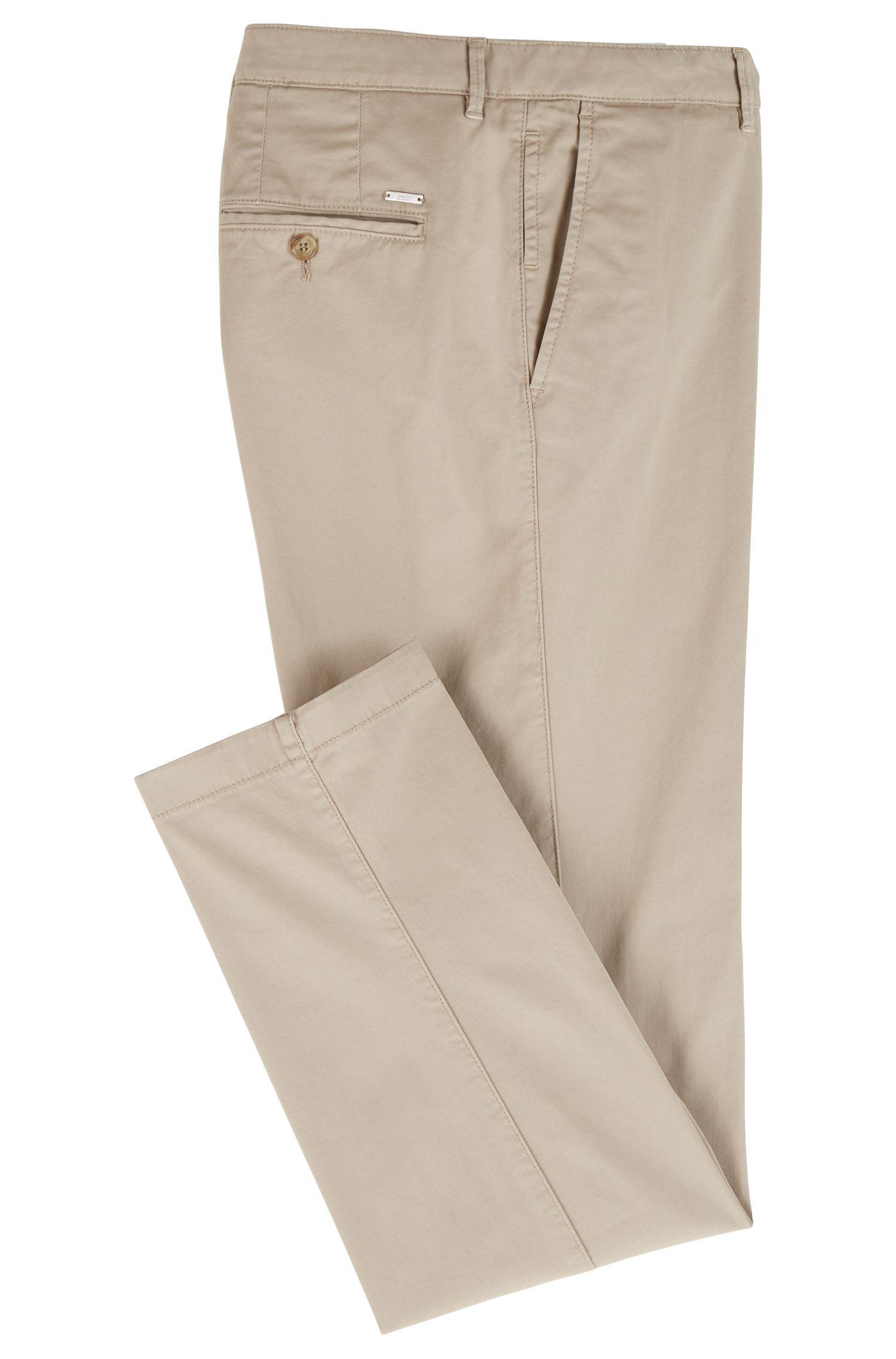 Regular-fit chinos in stretch cotton gabardine
