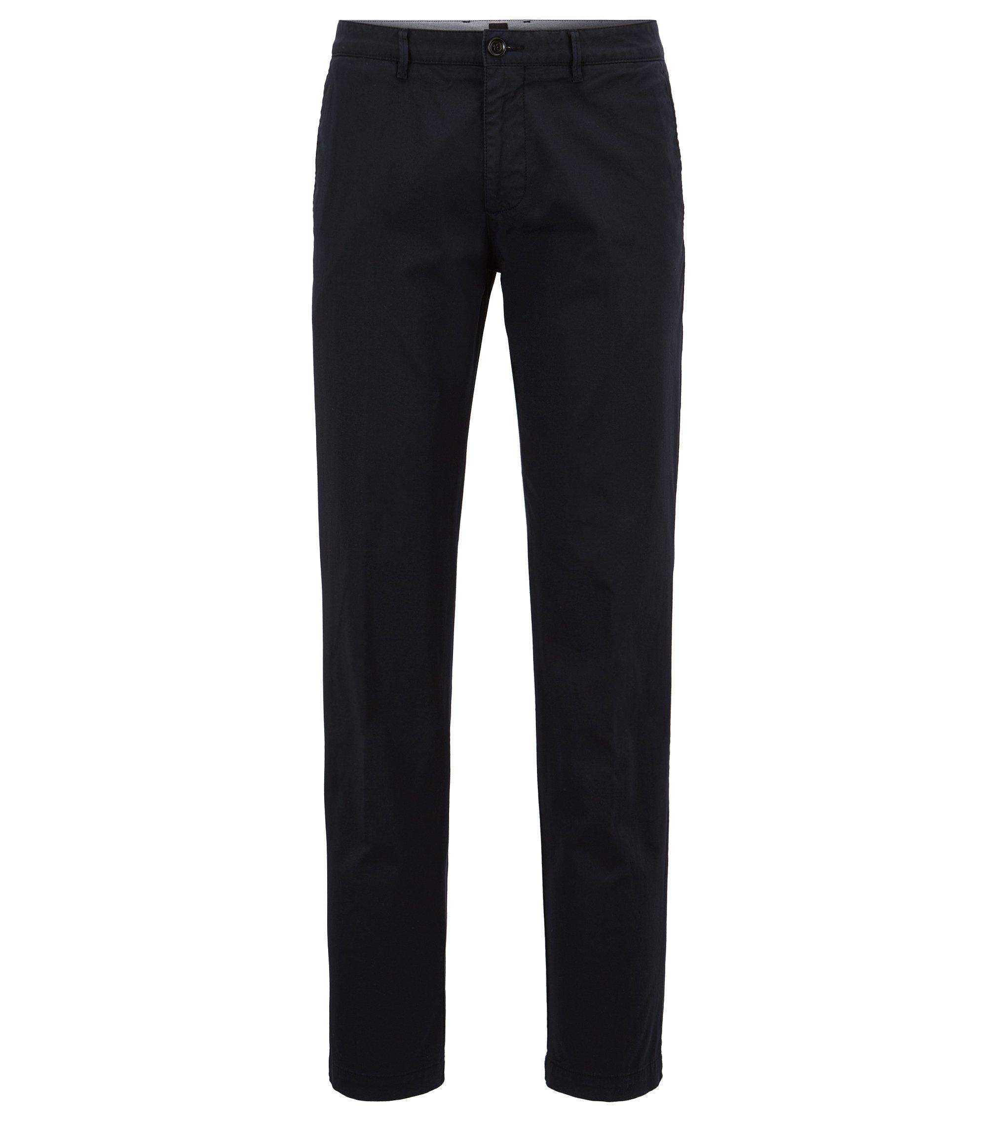 Stretch Cotton Pant, Regular Fit | Crigan D, Dark Blue