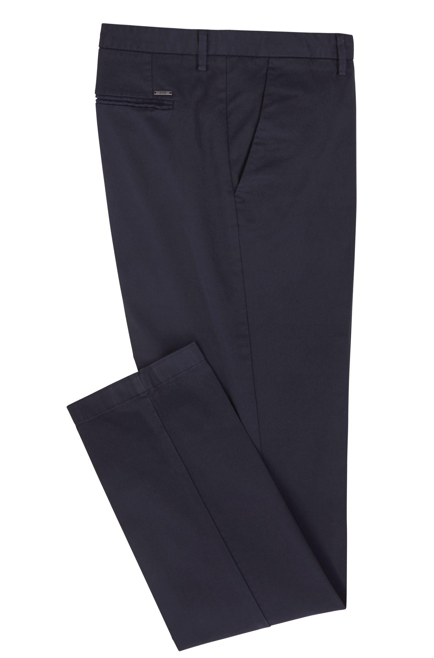 Stretch Gabardine Chino Pant, Slim Fit   Kaito W, Dark Blue