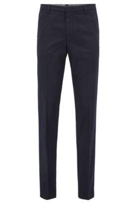 'Kaito W' | Slim Fit, Stretch Gabardine Chino Pants, Dark Blue