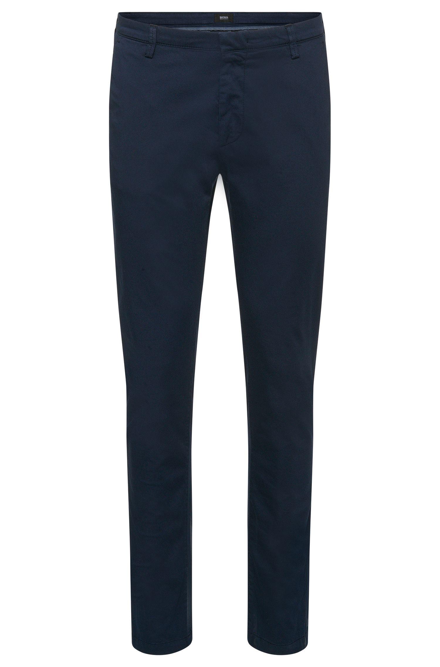 Stretch Cotton Gabardine Printed Pant, Slim Fit | Rice D