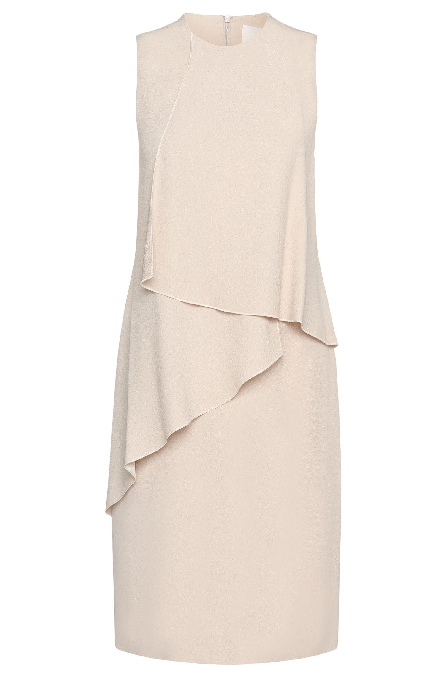 Crepe Sating Layered Flounce Dress | Dalynea