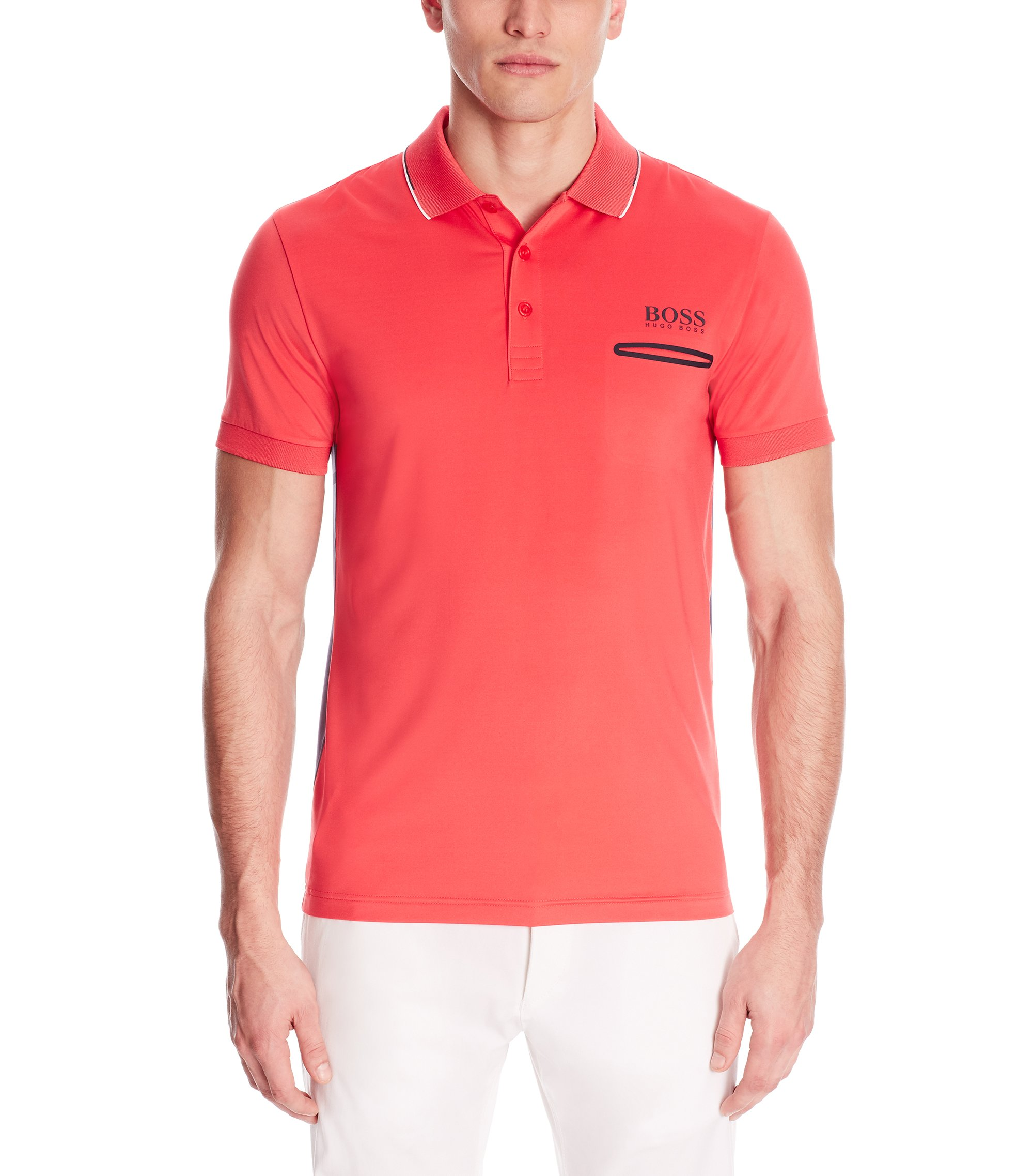Moisture Manager Stretch Polo Shirt, Slim Fit | Paule Pro, Open Red