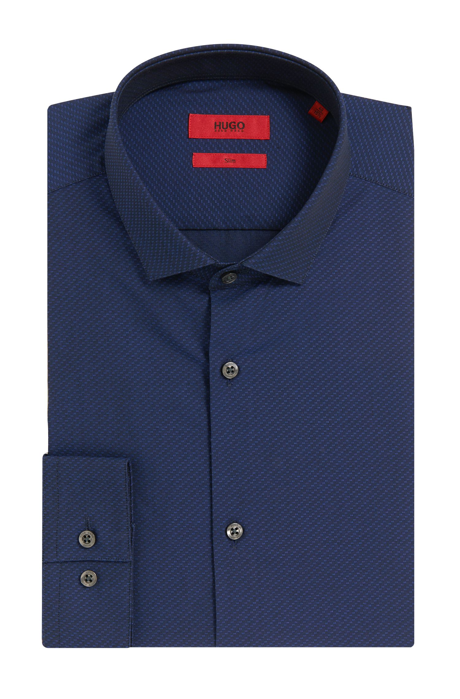 Dobby Cotton Dress Shirt, Slim Fit | Erondo