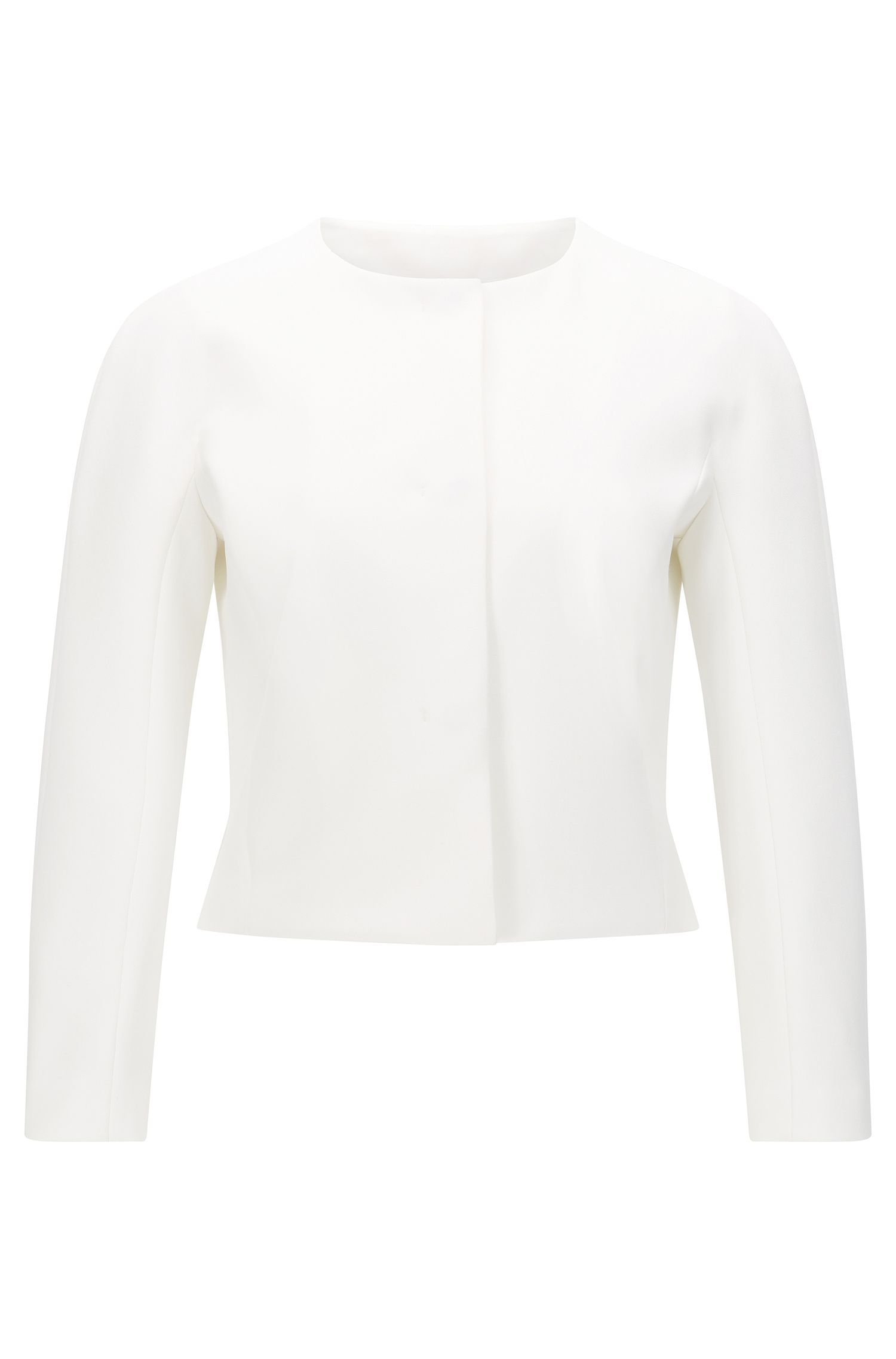 'Jyleana' | Stretch Cotton Blend Short Jacket