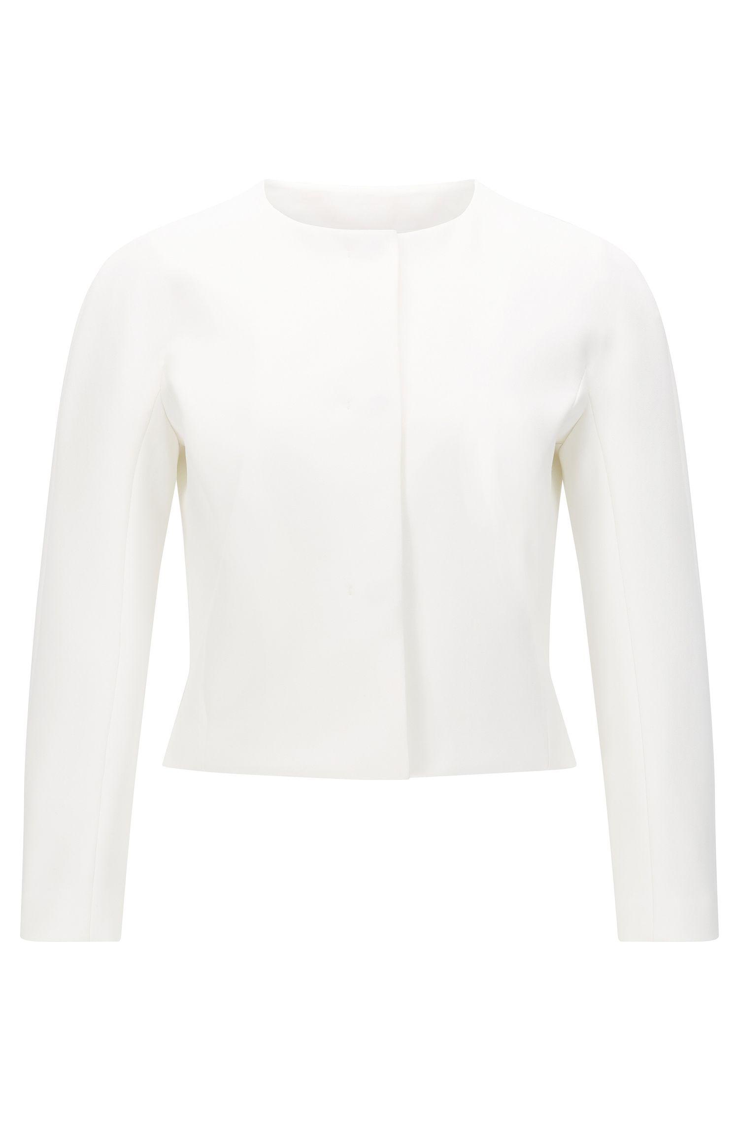 'Jyleana'   Stretch Cotton Blend Short Jacket